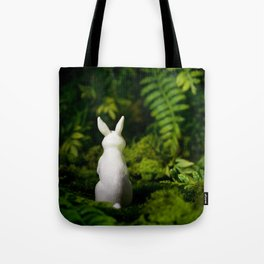 White Bunny with back turned Tote Bag