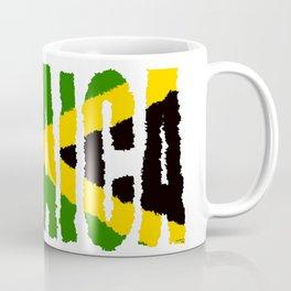 Jamaica Font with Jamaican Flag Coffee Mug