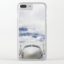 Plane Under the Clouds Clear iPhone Case