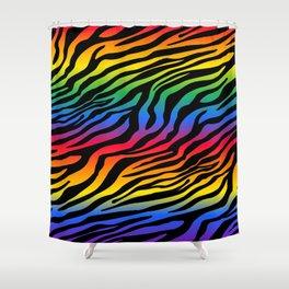 Zazzy Zebras - Rainbow Shower Curtain