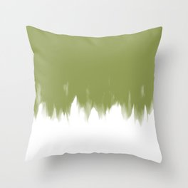 Olive Bleed Throw Pillow
