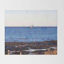 Tallship on the Saint-Lawrence Throw Blanket