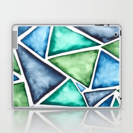 Large scale fragmentation. Watercolor triangles. Laptop & iPad Skin