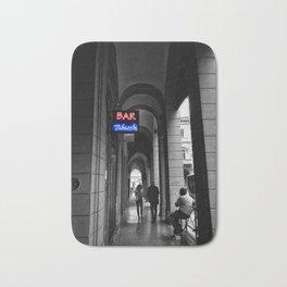 Bar Tabacchi in Bologna Black and White Color Splash Photography Bath Mat