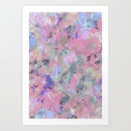 Pink Blush Abstract Art Print