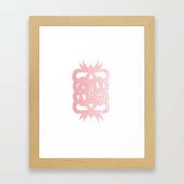 Double Dragon Framed Art Print