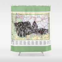 montana Shower Curtains featuring Montana by Ursula Rodgers