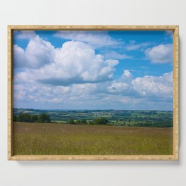 Looking across the Cotswolds, England Serving Tray