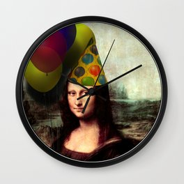 Mona Lisa Birthday Girl Wall Clock