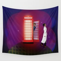 community Wall Tapestries featuring Community Inspector Spacetime  by Leslie Prongué