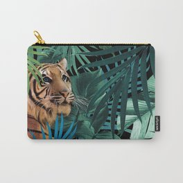 Tiger in the Jungle #1 #tropical #foliage #decor #art #society6 Carry-All Pouch