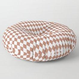 Sherwin Williams Cavern Clay Rippled Diamonds, Harlequin, Classic Rhombus Pattern Floor Pillow