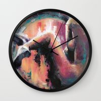 charlie Wall Clocks featuring Charlie by Andrea Creates