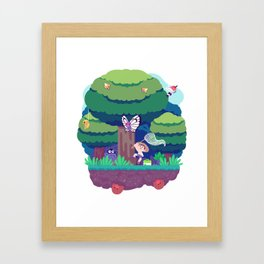 Tiny Worlds - Viridian Forest Framed Art Print