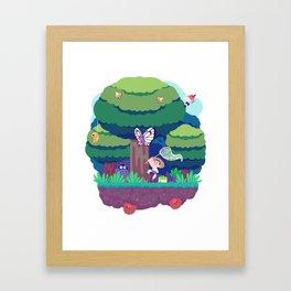Tiny Worlds - Viridian Forest Framed Art Print