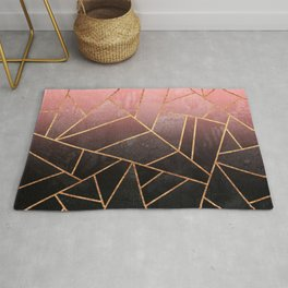 Pink And Black Stone Rug