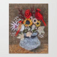 Cardinal Bouquet Canvas Print