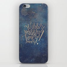 Wibbly wobbly (Doctor Who quote) iPhone Skin