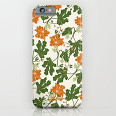 Orange Vintage Flower Pattern Slim Case iPhone 6s