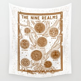Yggdrasil: The Nine Realms Wall Tapestry