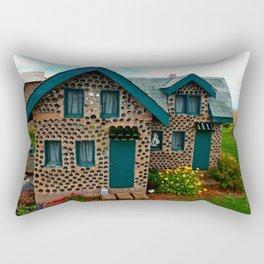 Green Gabled Bottle House Rectangular Pillow