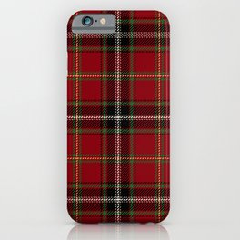 Classic Christmas Red Tartan Plaid iPhone Case