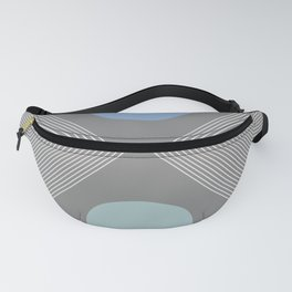 Earth And Moon - Mid-Century Minimalist Fanny Pack