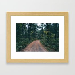 Dirt Road in the Forest Framed Art Print