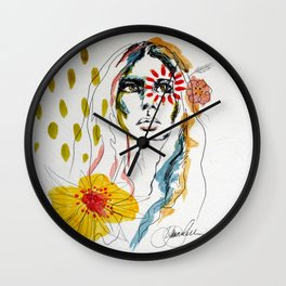 Sun Worshipper Wall Clock