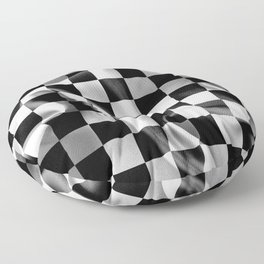 Chequered Flag Floor Pillow