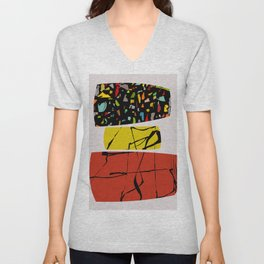 Abstract Compositon 1026 Unisex V-Neck
