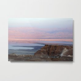 Masada Sunset Metal Print