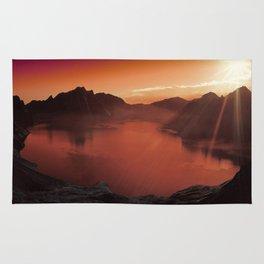 Sunset coucher de soleil Rug
