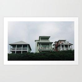 Beach Houses Art Print