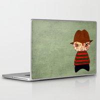freddy krueger Laptop & iPad Skins featuring A Boy - Freddy Krueger by Christophe Chiozzi