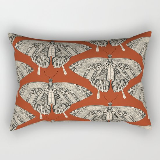 swallowtail butterfly terracotta black Rectangular Pillow