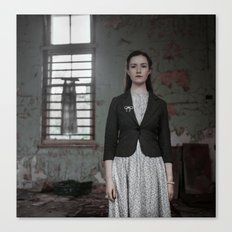 Woman and Dress Canvas Print