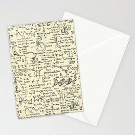 Physics Equations // Parchment Stationery Cards