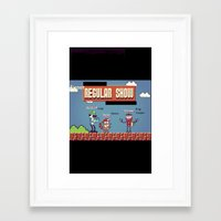 regular show Framed Art Prints featuring Super Regular Show Bros. by Poetic_Hoopa