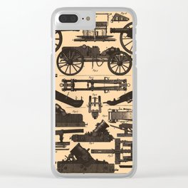 Vintage Illustration of Cannons & Artillery (1907) Clear iPhone Case