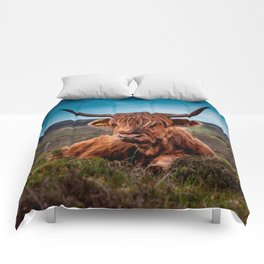 Scottish Highland longhorns Rancher Comforters