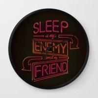 sleep Wall Clocks featuring Sleep by Simi Automatic