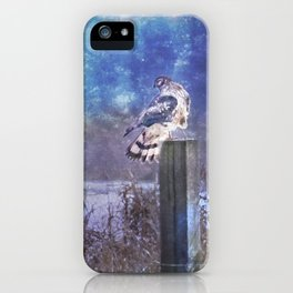 The Northern Harrier and The Moon iPhone Case