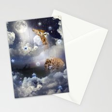 Shoot For The Moon (Giraffe In The Clouds) Stationery Cards