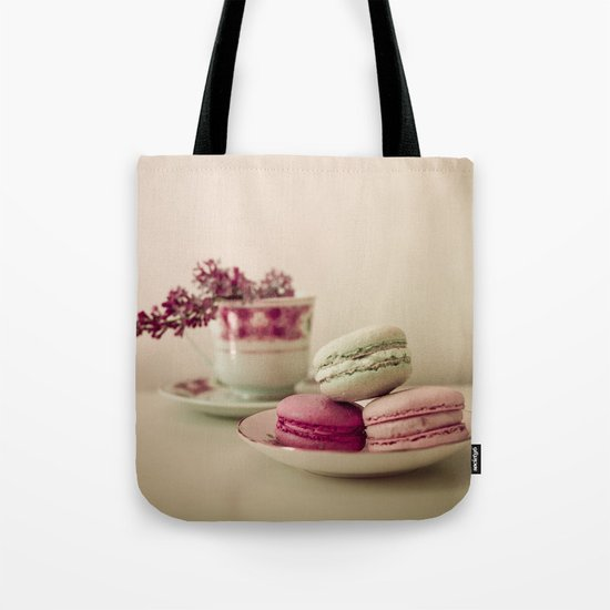 Lilac and Macaroons Tote Bag