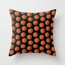 Basketball Pattern-Black Throw Pillow