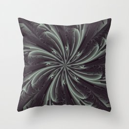 Out of the Darkness Fractal Bloom Throw Pillow
