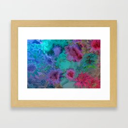Flowers abstract #2 Framed Art Print