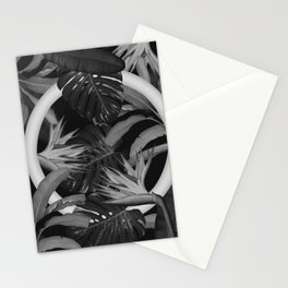 White Circle in Black Forest Stationery Cards