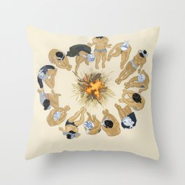 Finding Warmth Together Throw Pillow